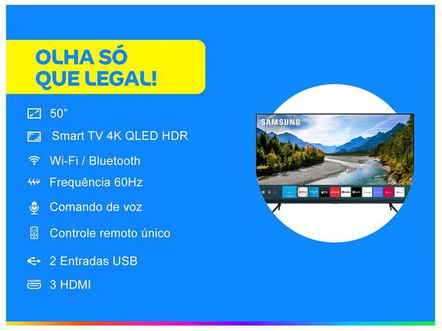 "Imagem de Smart TV 4K QLED 50"" Samsung 50Q60TA"