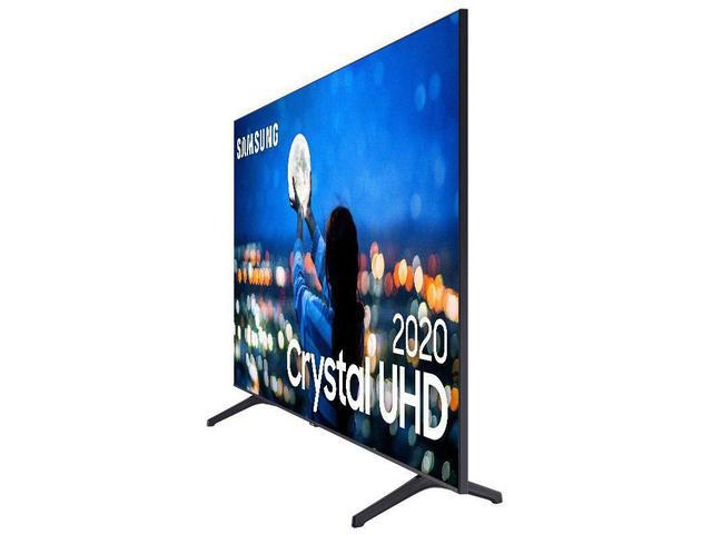 """Imagem de Smart TV Crystal UDH 4K LED 58"""" Samsung 58TU7000 Wi-Fi Bluetooth 2 HDMI 1 USB Visual Livre de Cabos"""