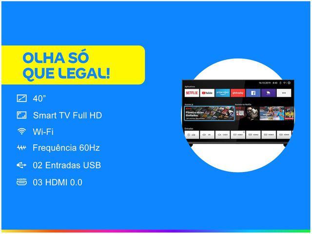 """Imagem de Smart TV DLED 40"""" Philco PTV40G60SNBL"""