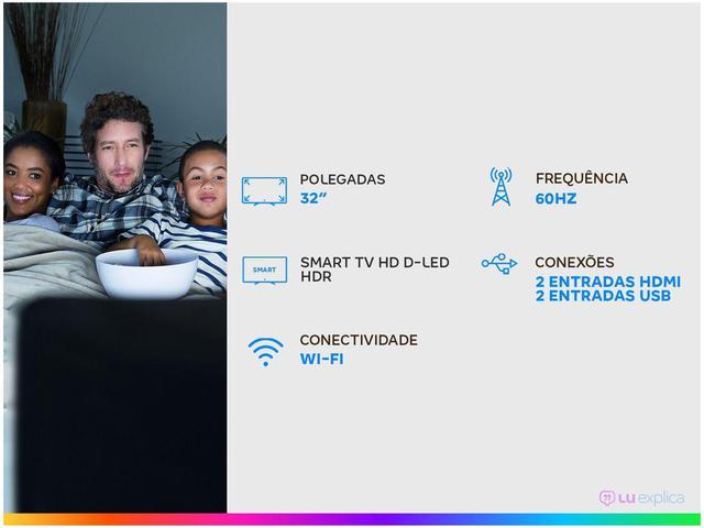 "Imagem de Smart TV HD D-LED 32"" Multilaser TL031 Wi-Fi - 2 HDMI 2 USB"