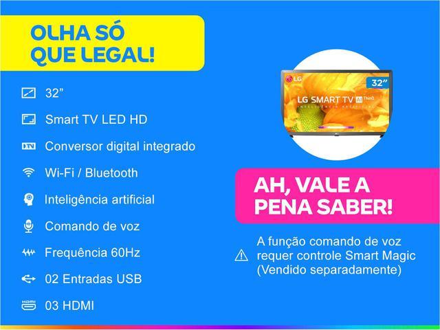 "Imagem de Smart TV HD LED 32"" LG 32LM625BPSB Wi-Fi Bluetooth"