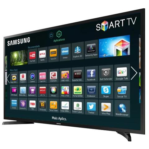 Imagem de Smart TV LED 32 HD Samsung 32J4290 2 HDMI 1 USB Wi-Fi e Conversor Digital Integrados