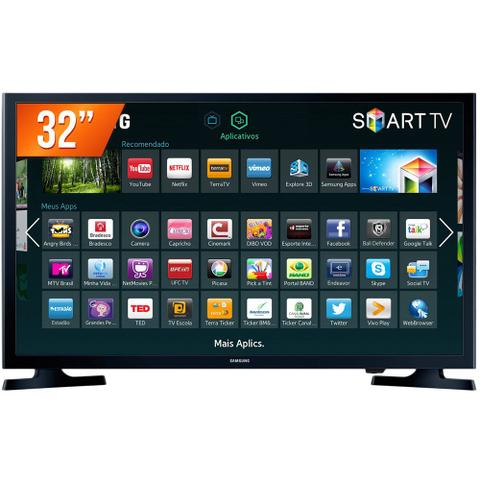 Imagem de Smart TV LED 32 HD Samsung HG32NE595JGXZD 2 HDMI Wi-Fi Integrado