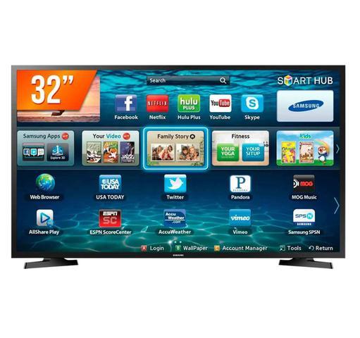 Imagem de Smart TV LED 32 Polegadas Samsung LH32BETBLGGXZD 2HDMI 1USB Preto Bivolt