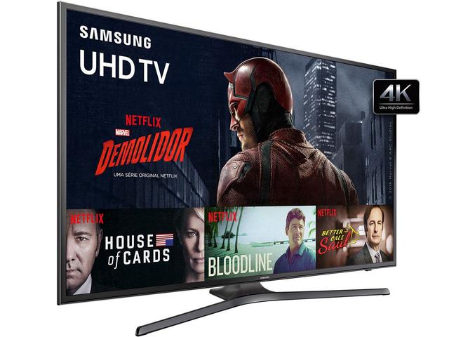 "Imagem de Smart TV LED 40"" Samsung 4K/Ultra HD 40KU6000"