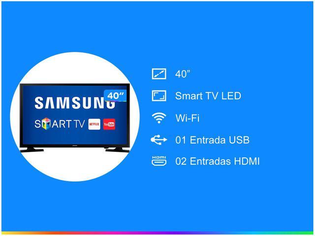 """Imagem de Smart TV LED 40"""" Samsung UN40J5200 Full HD"""