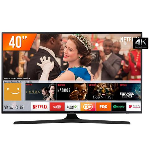 Imagem de Smart TV LED 40 UHD 4K Samsung 40MU6100 3HDMI 2USB com Wifi e Conversor Digital Integrados