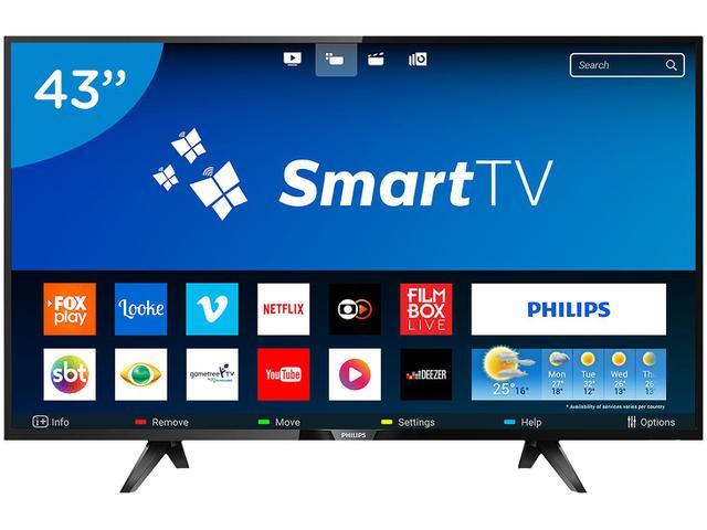 """Imagem de Smart TV LED 43"""" Philips Full HD Série 5102"""