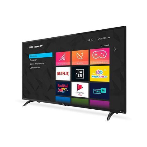 Imagem de Smart Tv Led 43 Polegadas Full Hd Aoc Wi-Fi Entradas HDMI e USB