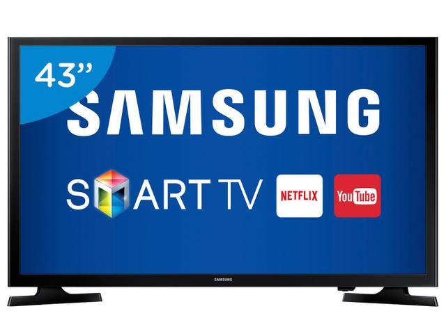 """Imagem de Smart TV LED 43"""" Samsung Full HD UN43J5200"""