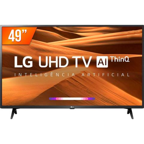 Imagem de Smart TV LED 49'' Ultra HD 4K LG 49UM 731 3 HDMI 2 USB Wi-fi Conversor Digital