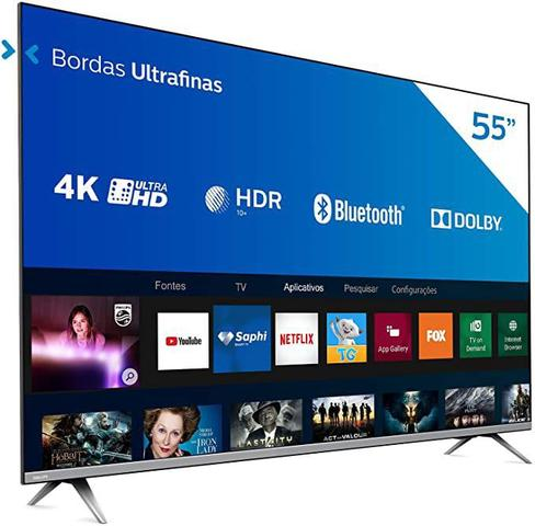 "Tv 55"" Led Philips 4k - Ultra Hd Smart - 55pug6654/78"