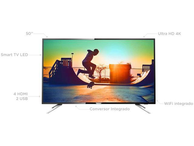 "Imagem de Smart TV LED 50"" Philips 4K/Ultra HD 50PUG6102/78"