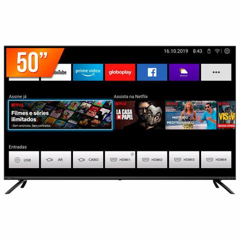 "Tv 50"" Led Philco 4k - Ultra Hd Smart - Ptv50g70sbl"