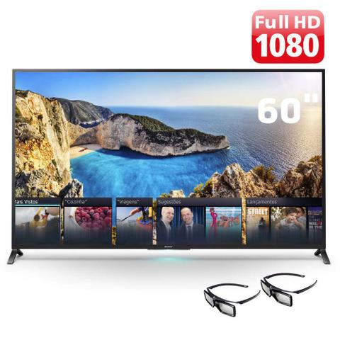 Imagem de Smart TV LED 60 Polegadas Sony 3D Full HD Wi-Fi KDL60W855B