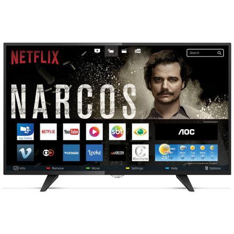Imagem de Smart Tv Led AOC 43 Polegadas Full HD Conversor Digital Wi-fi USB HDMI LE43S5970