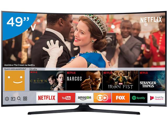 "Imagem de Smart TV LED Curva 49"" Samsung 4K/Ultra HD"