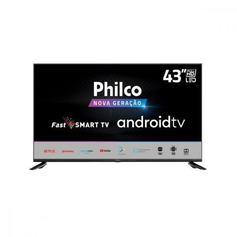 Imagem de Smart Tv Led Full Hd 43 Polegadas Philco Hdmi Usb Wi-Fi e Cpu Quad Core