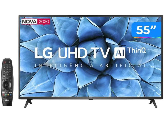 Imagem de Smart TV LG 55'' 4K, UHD, Wi-Fi, Bluetooth, HDR, Inteligência Artificial ThinQ AI Google Assistente 55UN7310PSC