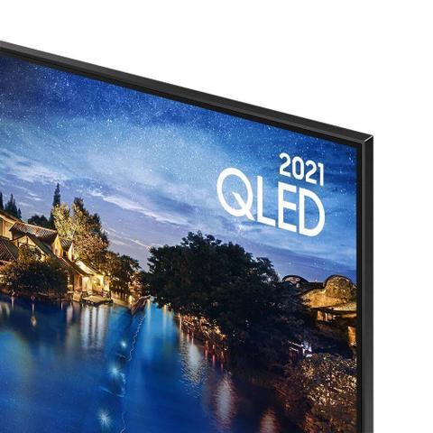 Imagem de Smart TV Samsung QLED 4K 50Q60A Design Slim Modo Game Som em Movimento Virtual Visual Sem Cabos