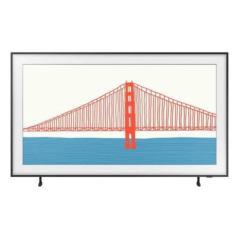 Imagem de Smart TV Samsung QLED 4K The Frame 2021 55LS03A Design Slim Molduras Customizáveis Modo Arte