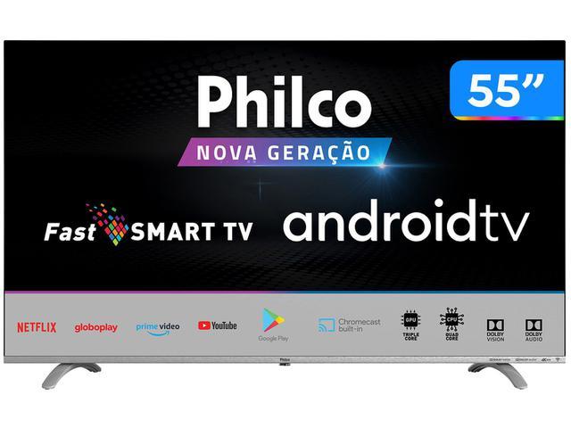 "Tv 55"" Led Philco 4k - Ultra Hd Smart - Ptv55q20agbl"