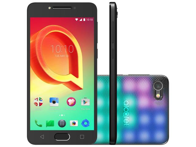 SMARTPHONE ALCATEL A5 LED 16GB PRATA DUAL CHIP 4G - CÂM. 16MP + SELFIE 8MP TELA 5.2 PROC. OCTA CORE