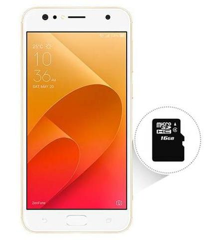 Imagem de Smartphone Asus Zenfone 4 Selfie 64GB + SD 16GB (TOTAL 80GB) Dourado Tela 5.5 4GB RAM