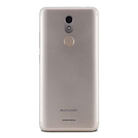 Imagem de Smartphone Dual Chip Quad Core 4G 1Gb Ram 16Gb de Memória Tela 5,7 Pol Android 8.1 MS60X Dourado/Branco - Multilaser  - NB738