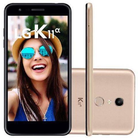 Imagem de Smartphone Lg K11 Alpha 16GB Tela 5.3 Câmera Traseira 8MP 4G+WIFI Android 7.1 Dual Chip - Dourado