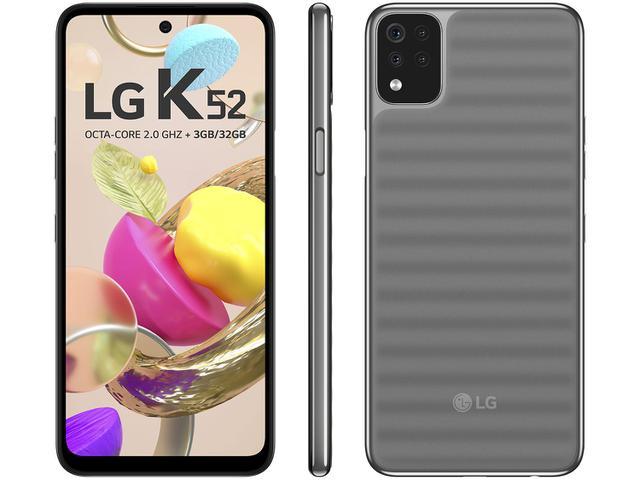 Imagem de Smartphone LG K52 64GB Cinza 4G Octa-Core 3GB RAM
