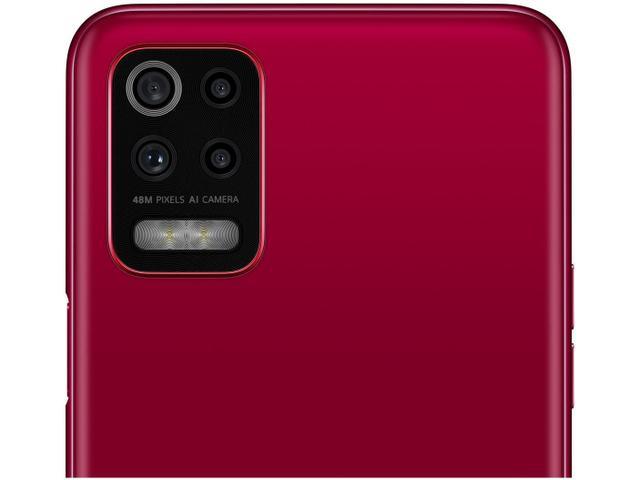 Imagem de Smartphone LG K62 64GB Vermelho 4G Processador Octa-Core 4GB RAM Tela 6,59 Camera Quádrupla + Selfie 13MP Android Dual Chip