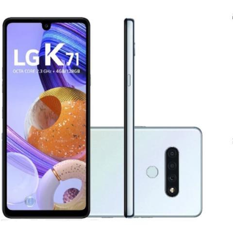Imagem de Smartphone LG K71 Branco Tela de 6.8 4G Câmera Traseira de 48 5 5MP e Frontal de 32MP 128GB