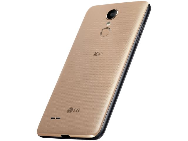 "Imagem de Smartphone LG K9 TV 16GB Dourado 4G Quad Core 2GB RAM Tela 5"" Câm. 8MP + Câm. Selfie 5MP"