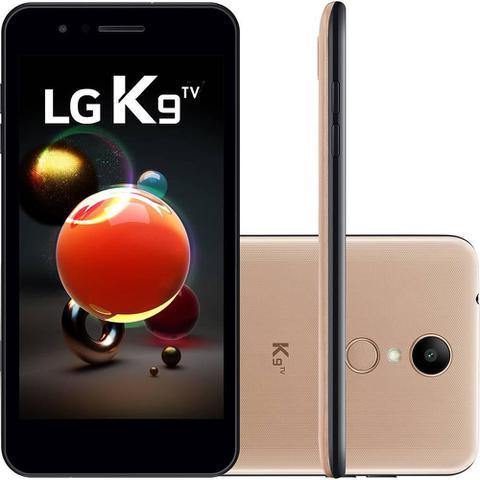 Imagem de Smartphone LG K9 TV Dual Chip Tela 5 Quad Core 1.3 Ghz 16GB 4G Câmera 8MP - Dourado