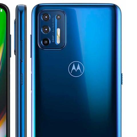 Imagem de Smartphone Motorola G9 Plus 128GB 4G Câmera Quádrupla 64MP 8MP 2MP 2MP Frontal 16MP Azul Índigo