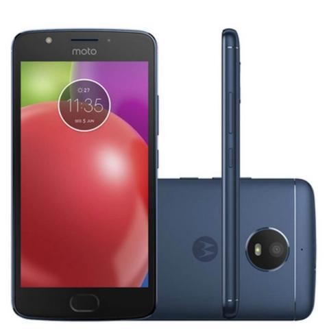 Imagem de Smartphone Motorola Moto E4 16GB Preto com Capa Azul Safira