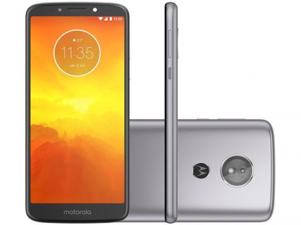 """Imagem de Smartphone Motorola Moto E5 16GB Platinum - Dual Chip 4G Câm 13MP + Selfie 5MP Flash Tela 5.7"""""""