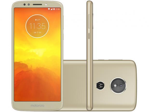 """Imagem de Smartphone Motorola Moto E5 32GB Ouro 4G - Quad Core 2GB RAM Tela 5,7"""" Câm. 13MP + Selfie 5MP"""