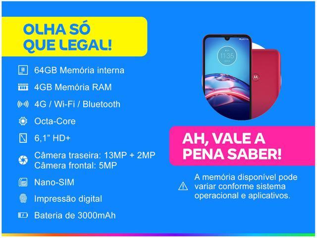Imagem de Smartphone Motorola Moto E6S 64GB Vermelho Magenta