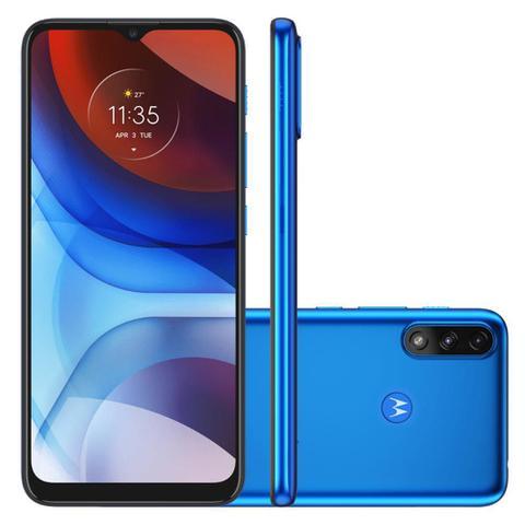 Celular Smartphone Motorola Moto E7 Power Xt2097 32gb Azul - Dual Chip