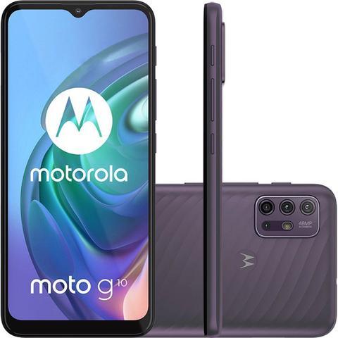 """Imagem de Smartphone Motorola Moto G10 64GB 4GB Ram Tela de 6.5"""" Câmera Traseira Quádrupla - Cinza Aurora"""