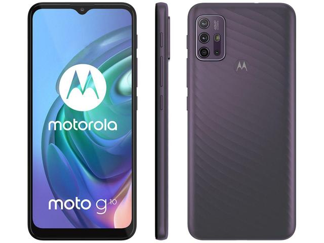 """Imagem de Smartphone Motorola Moto G10 64GB Cinza Aurora - 4G 4GB RAM Tela 6,5"""" Câm. Quádrupla + Selfie 8MP"""