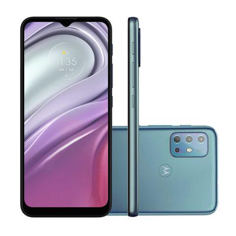 """Imagem de Smartphone Motorola Moto G20 64GB Azul 4G - 4GB RAM Tela 6,5"""" Câm. Quádrupla + Selfie 13MP"""