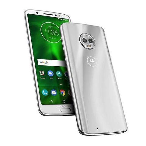 Imagem de Smartphone Motorola Moto G6 32GB Dual Chip Android Oreo-8.0 Tela5.7 Octa-Core1.8 GHz 4G Câmera 12+5MP-Silver