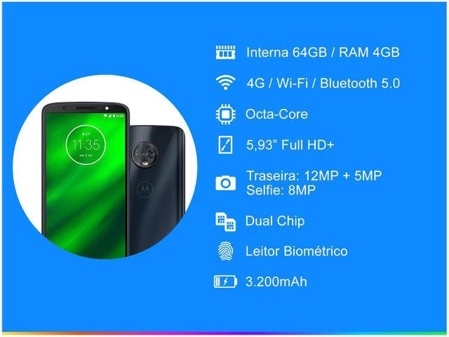 Imagem de Smartphone Motorola Moto G6 Plus 64GB Indigo 4G