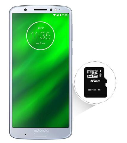 Imagem de Smartphone Motorola Moto G6 Plus Dual Chip Tela 5.9 Octa-Core 2.2 GHz 64GB 4G Câmera 12 + 5MP (Dual Traseira) - Azul Topázio + Cartão SD 16GB