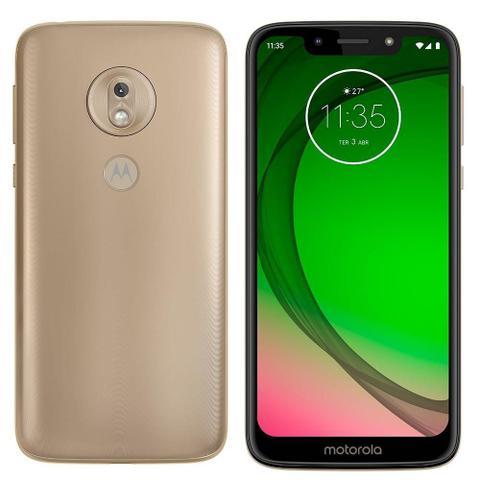 Imagem de Smartphone Motorola Moto G7 Play Ouro, Dual Chip, Tela 5,7