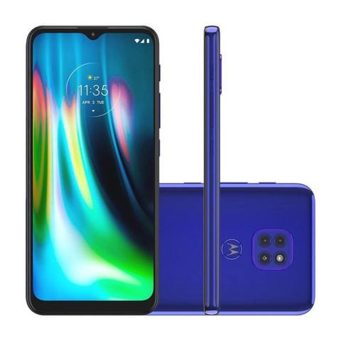 Celular Smartphone Motorola Moto G9 Play Xt2083 64gb Azul - Dual Chip