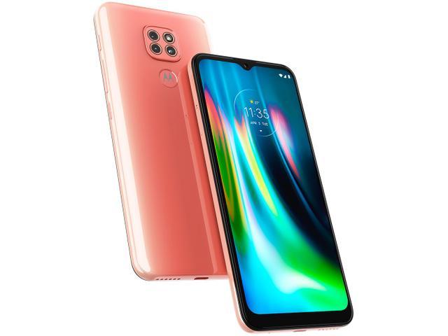Imagem de Smartphone Motorola Moto G9 Play 64GB Rosa Quartzo